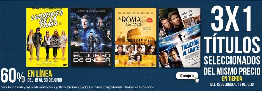 Blockbuster: 3x1 en películas seleccionadas