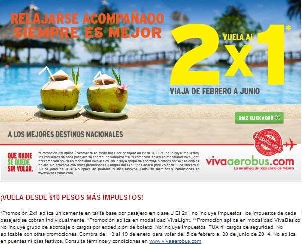 Vivaarobus: 2x1 en vuelos nacionales
