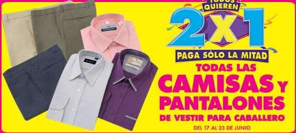 Ofertas de Julio Regalado 2015 en La Comer: 2x1 en camisas y pantalones de hombre