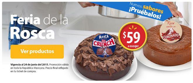 Walmart: Feria de la rosca: Roscas de Oreo, Crunch, Almonris, Coronado y La Lechera $59 c/u
