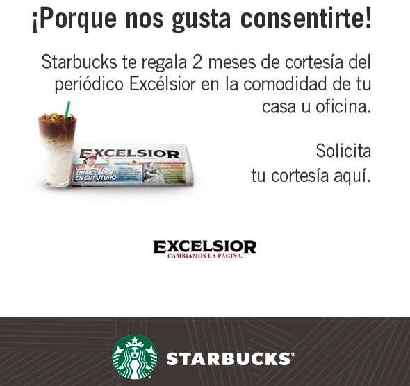 Starbucks regala 2 meses de el periódico Excelsior