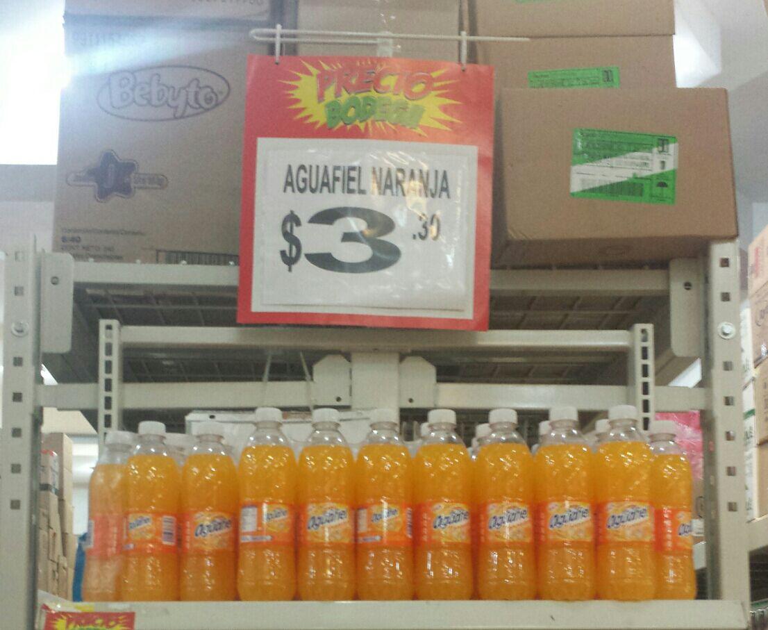 Bodega Aurrerá: Aguafiel de Naranja 500ml $3