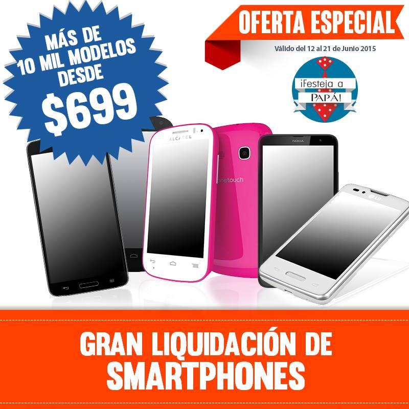 Chedraui: Gran liquidacion de Smartphones, + de 100,000 modelos desde $699