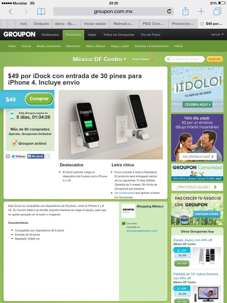 Grupon: iDock para cargar iPhones 4 y 4S