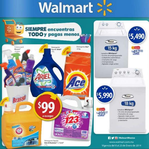 Folleto de ofertas en Walmart del 8 al 23 de enero
