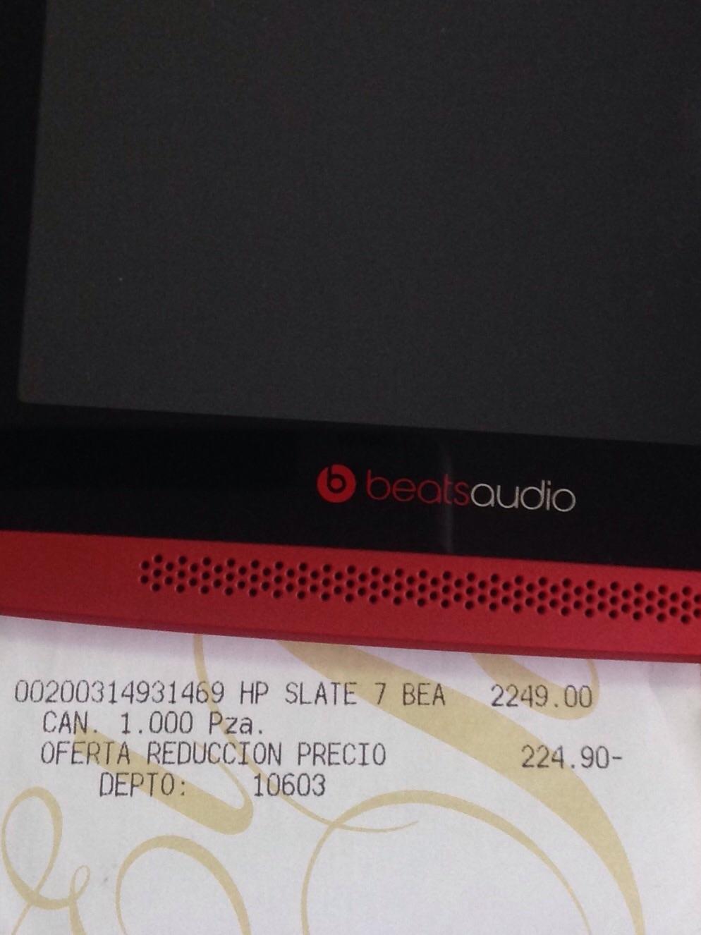 Palacio de Hierro: Tablet HP Beats Edición Especial
