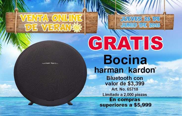 Office Depot: Venta Online de Verano bocina Harman Kardon gratis con compra mínima
