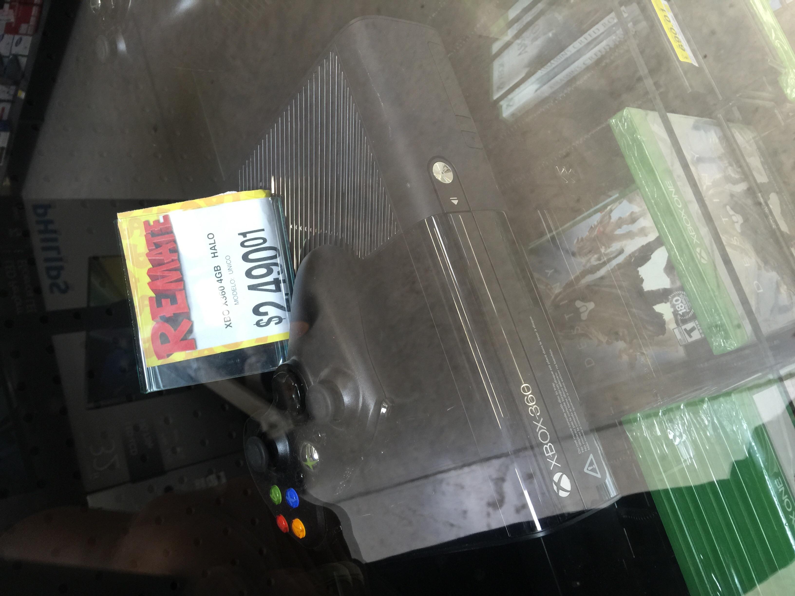 Bodega Aurrera: XBOX 360 4GB HALO $2,490.01