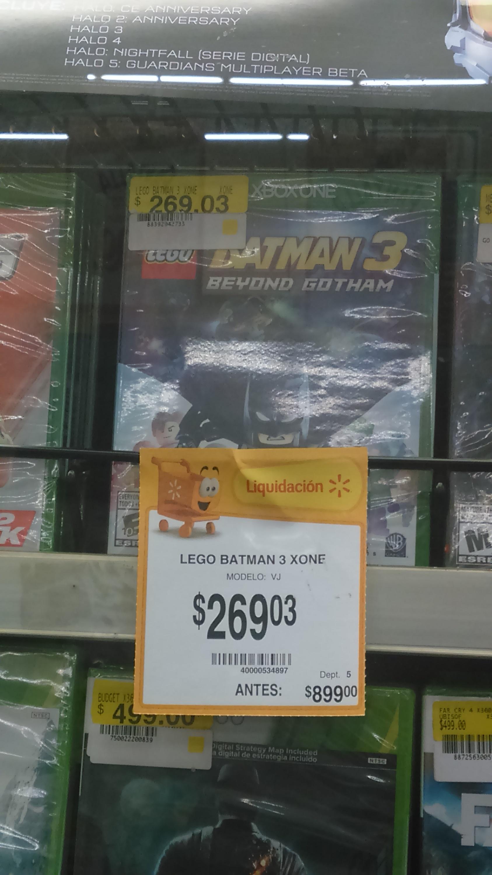 Walmart: Lego Batman 3 para PS4 y Xbox One a $269.03