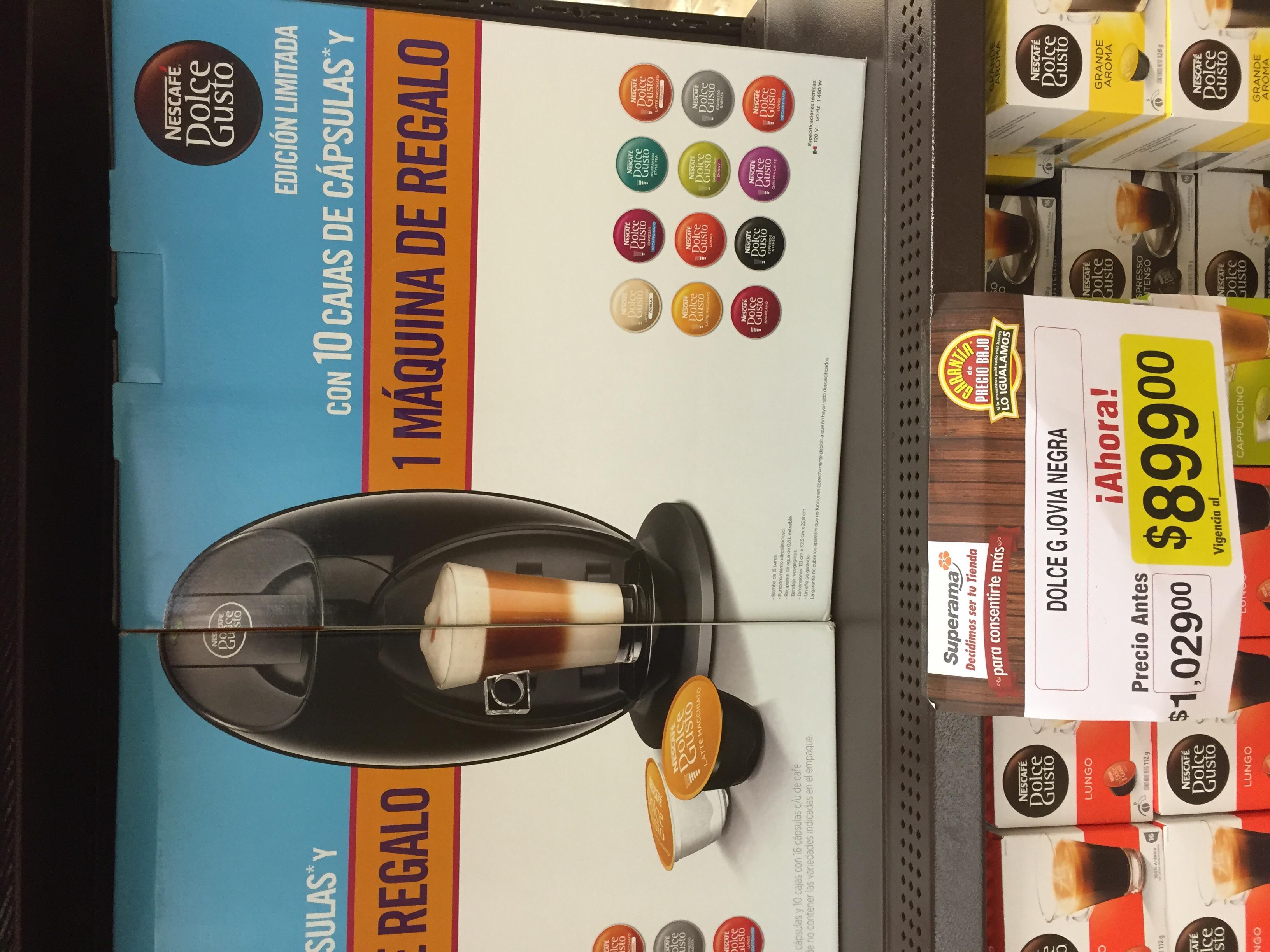 Superama: 10 cajas de Dolce Gusto y maquina gratis a $899