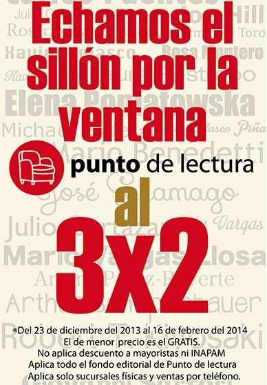 Librerías El Sótano: 3x2 en libros de Punto de lectura