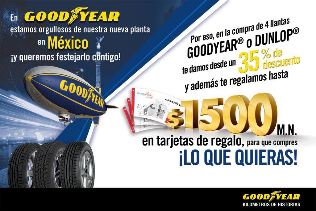Goodyear: descuentos desde 35% + bonificación de hasta $1,500