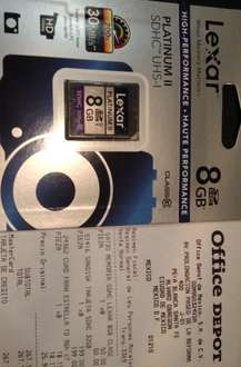 Office Depot: Memoria SD clase 10 de 8GB a $50