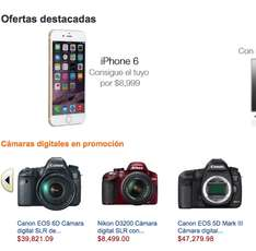 Amazon: iPhone 6 de 16GB $8,999 y 128GB $12,000