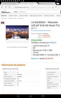 "Amazon: LG LED Smart TV 60"" 60LB5830 $14,999"