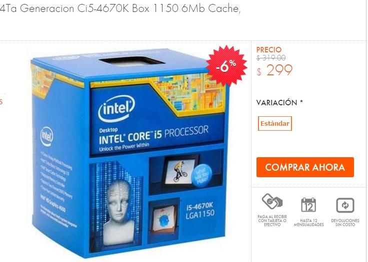 Linio - Procesador Intel i5 4Ta Generacion