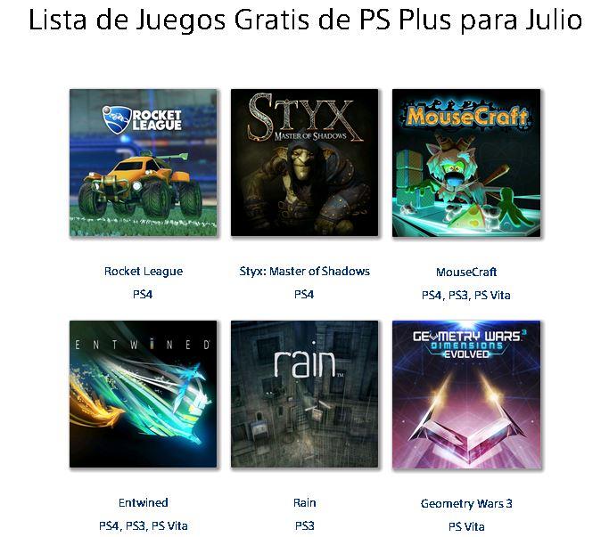 Juegos Gratis de PS Plus para Julio