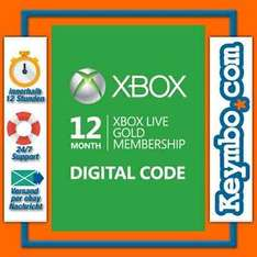 ebay: Xbox live gold 12 meses $380 (digital)