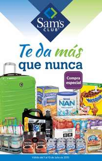 Folleto de ofertas en Sam's Club del 1 al 15 de julio