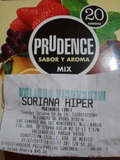 Soriana Hiper: 20 condones $69