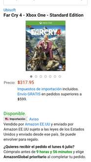 Amazon: Far Cry 4  XBOX ONE o PS4 $318
