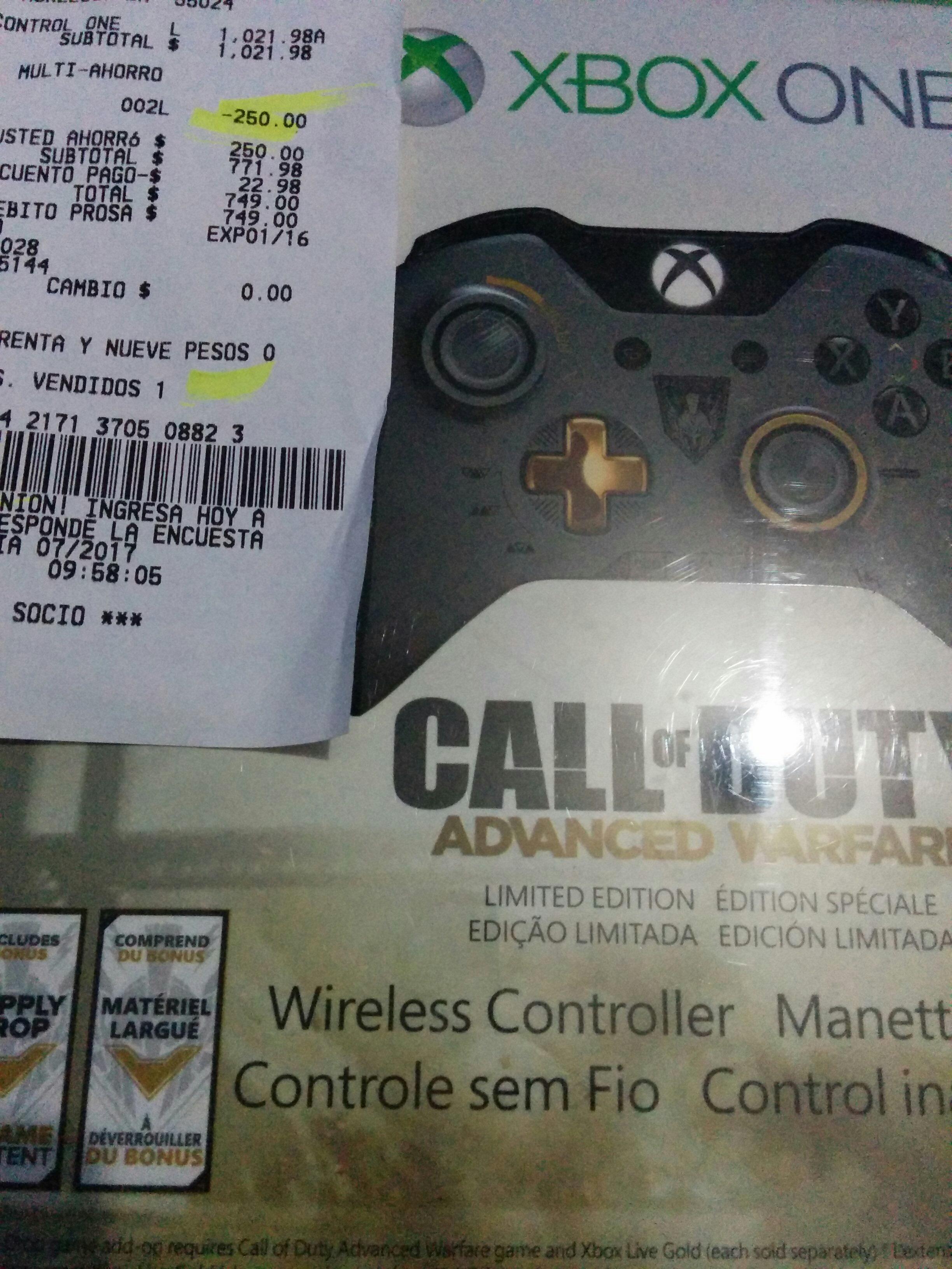 Sam's Club: control inalámbrico Xbox One edición COD $750