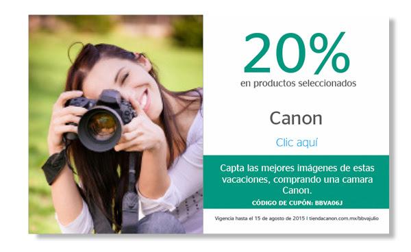 CANON y BANCOMER 20% de descuento en productos seleccionados