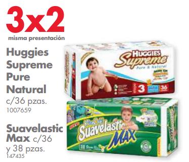Farmacias Guadalajara y Benavides: 3x2 en pañales Huggies y/o Suavelastic Max