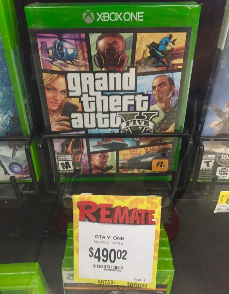 Bodega Aurrerá: GTA V para Xbox One a $490.02