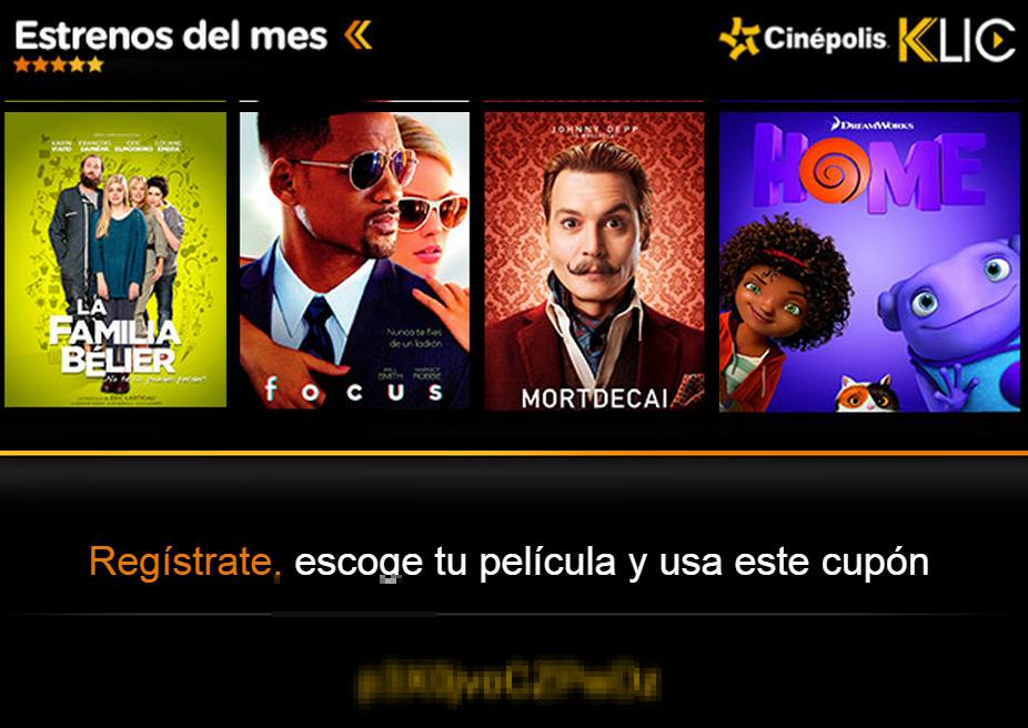 Renta de película gratis para Cinépolis Kilc en el boletín de hoy de Superama