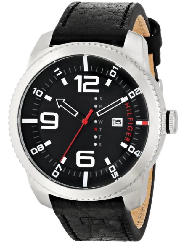 Amazon: Reloj análogo de cuarzo con correa de cuero Tommy Hilfiger $846