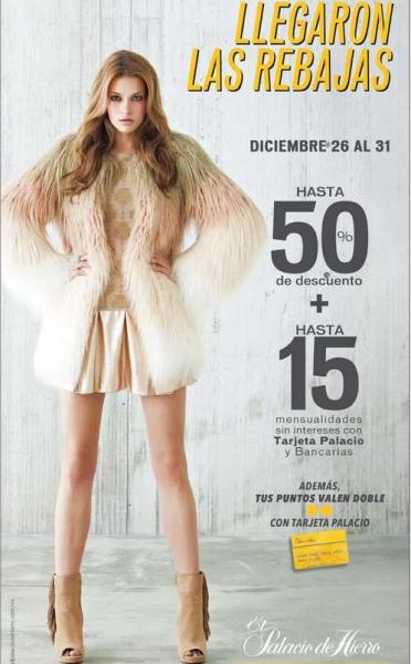 Rebajas de invierno 2014 en Palacio de Hierro: rebaja sobre rebaja y 20% en toda la tienda