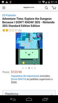 Amazon: Hora de Aventura para 3DS a $128
