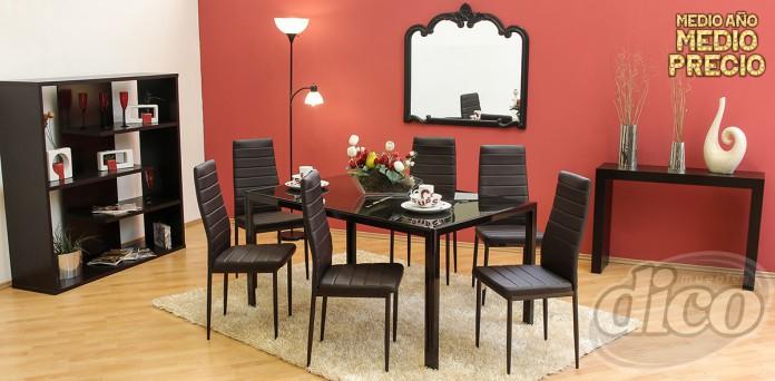 Muebles Dico: Comedor de 6 sillas $3,999