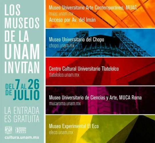 Museos UNAM Gratis en Temporada Vacacional