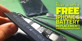 iPhone 5 Cambio gratis por el programa de reemplazo del botón de reposo/activación & reemplazo de baterías