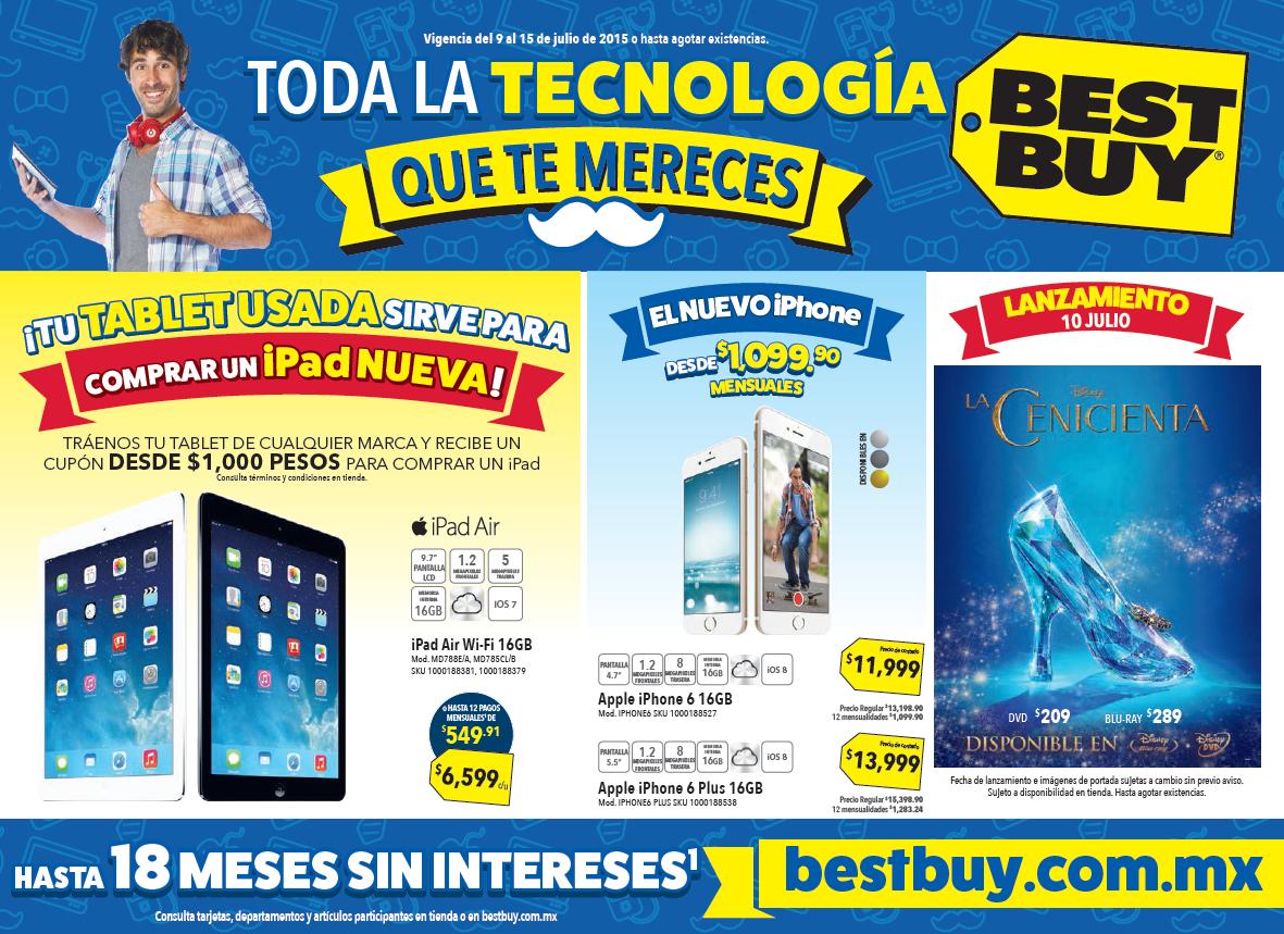 Folleto de ofertas en Best Buy del 9 al 15 de julio (Office 365 $499)