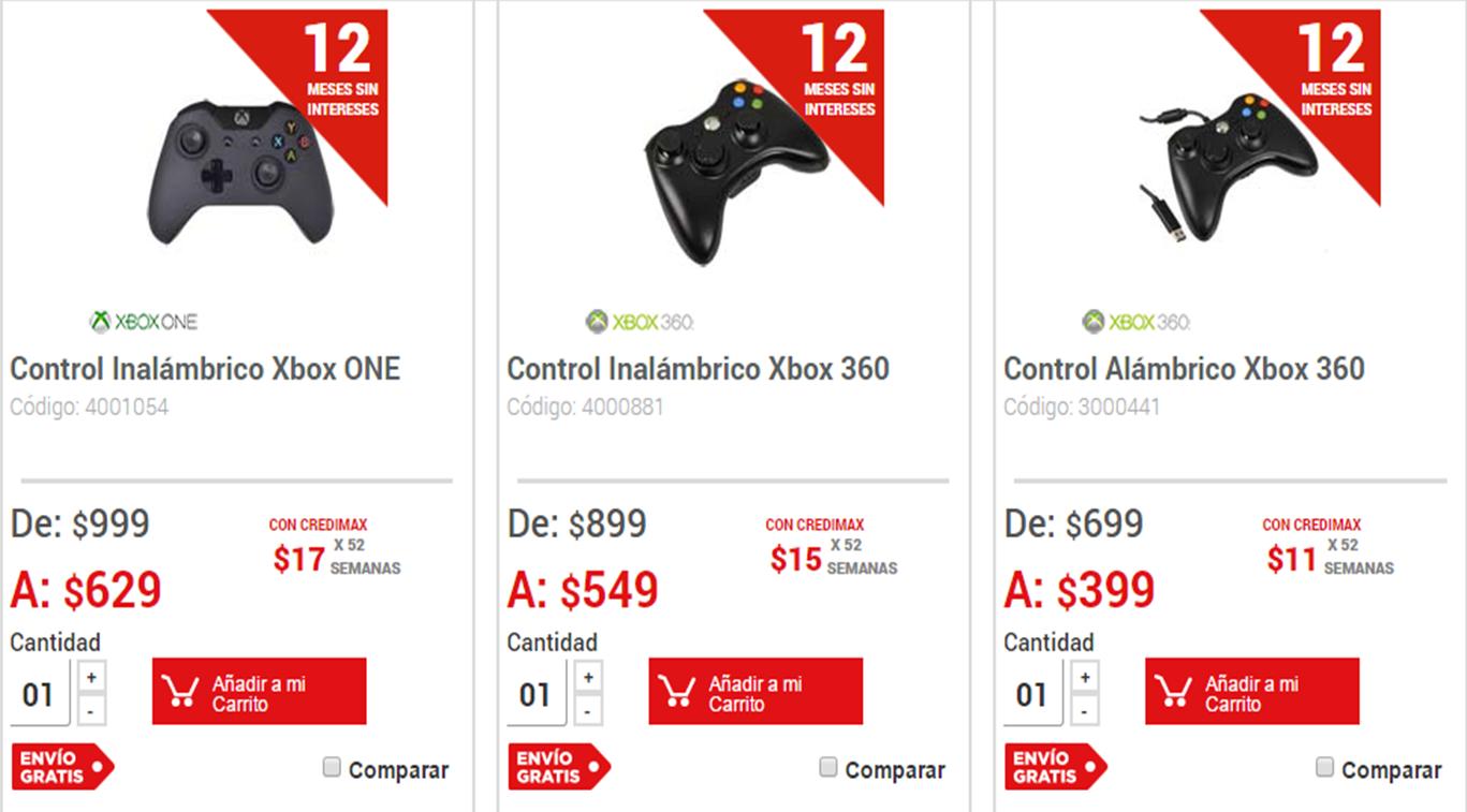 Elektra: Control inalambrico Xbox 360 a $549 y envío gratis
