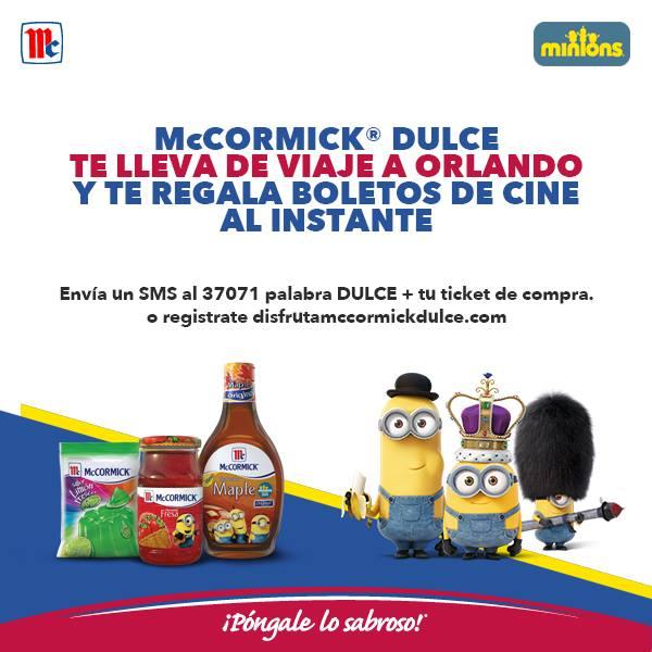 Cinemex: 2 boletos GRATIS comprando productos McCormick (incluyen gelatinas)
