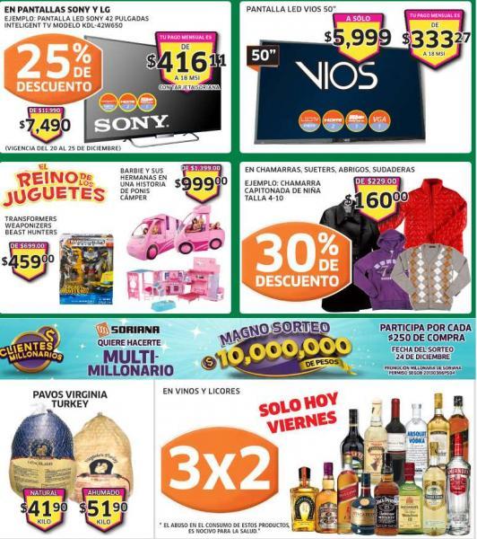 Soriana: 3x2 en vinos y licores, muñecas Monster High $249 y más