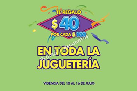 Ofertas de Julio Regalado 2015 en La Comer: $40 de descuento por cada $100 de compra en toda la Juguetería