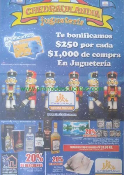 Chedraui: $250 de bonificación x cada $1,000 en juguetes, 20% menos en tequila, ron, Sony y +