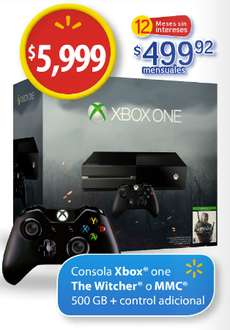 Walmart: Xbox One 500GB versión The Witcher o Halo más control extra a $5,999
