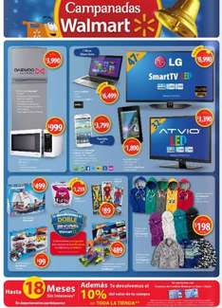 Folleto Campanadas Walmart en tienda y 10% de bonificación en todo con Walmart y Style