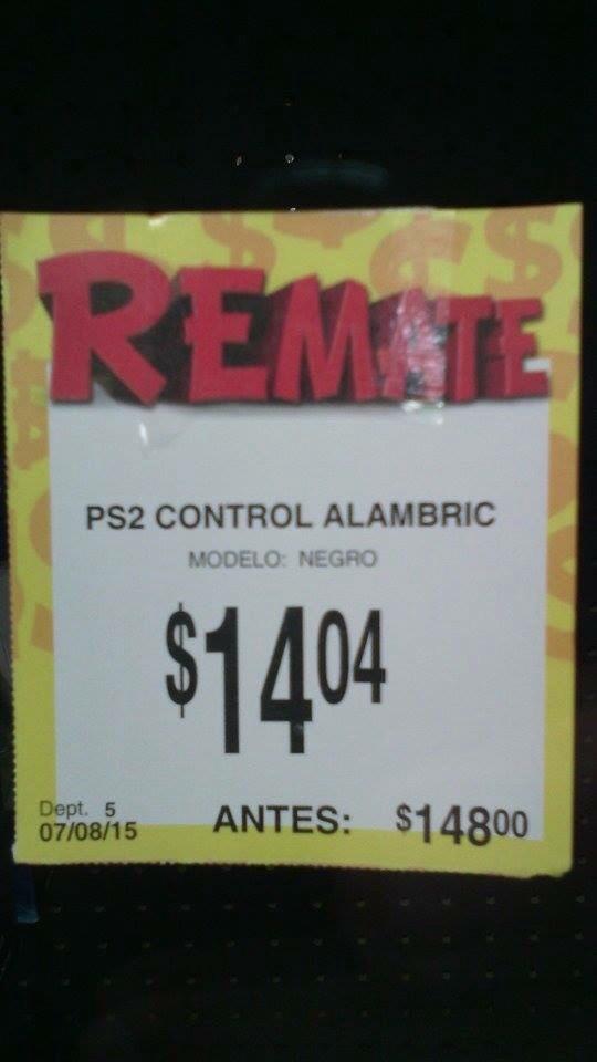 BODEGA AURRERÁ: Control PS2 alámbrico
