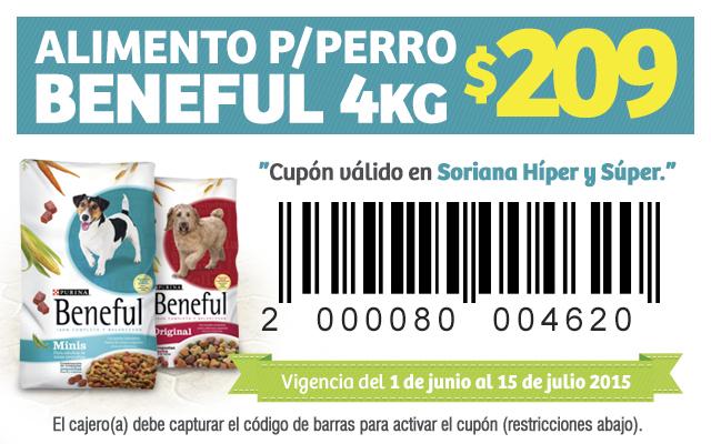 Soriana: Alimento Beneful 4kg por $209 con Cupon