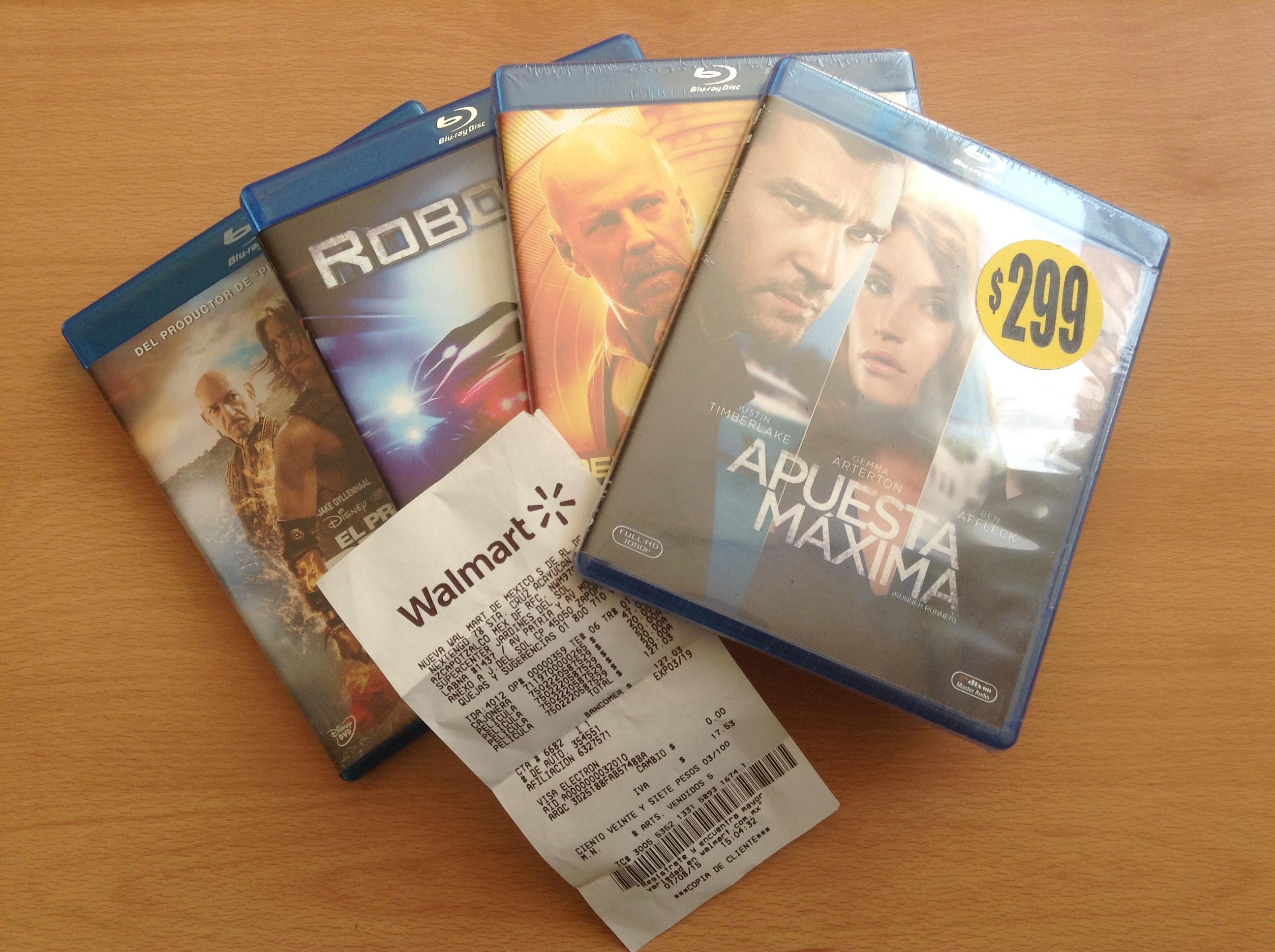 Walmart: Peliculas Blu-ray en $20