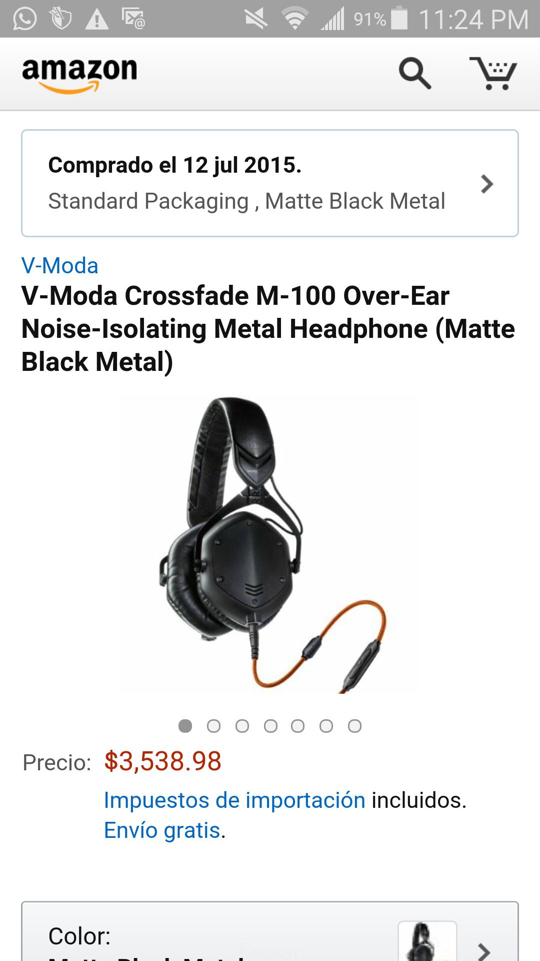 Amazon: Audiofonos Vmoda m100