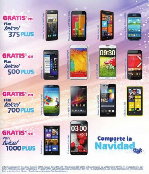 Telcel: Galaxy Note 3 gratis en plan de $499 al mes (a nivel nacional)