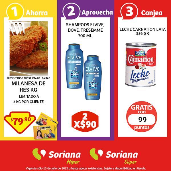 Soriana: Milanesa de Res $79.90